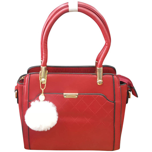 Red Square Design Ladies Hand Bag