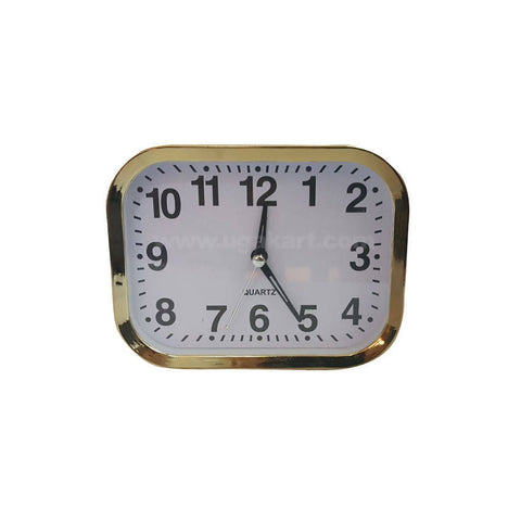 Table Top White And Golden Frame Clock