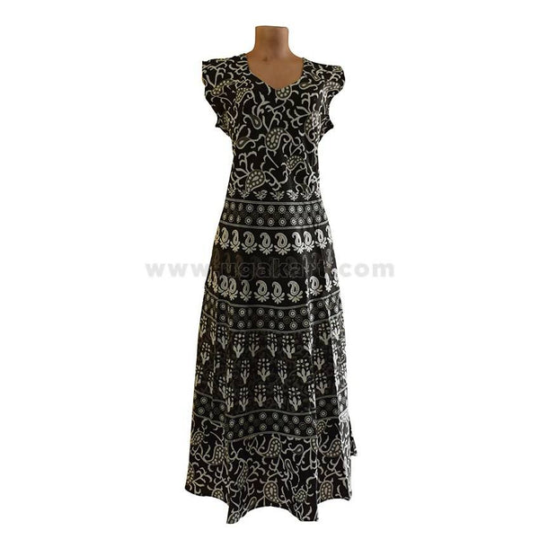 Ladies Black Floral Printed Dress - Size XXL/42