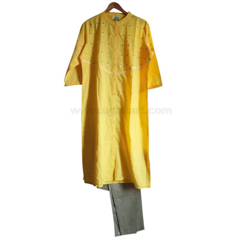 Yellow Long Dress For Womens