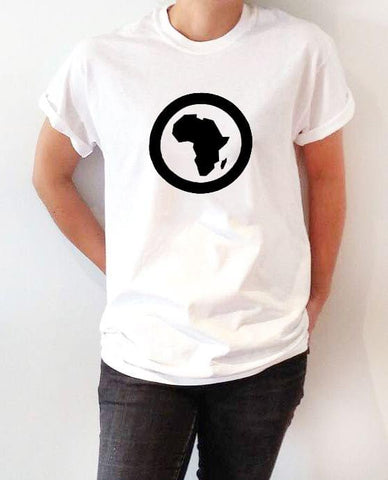 africa white ladies t-shirt