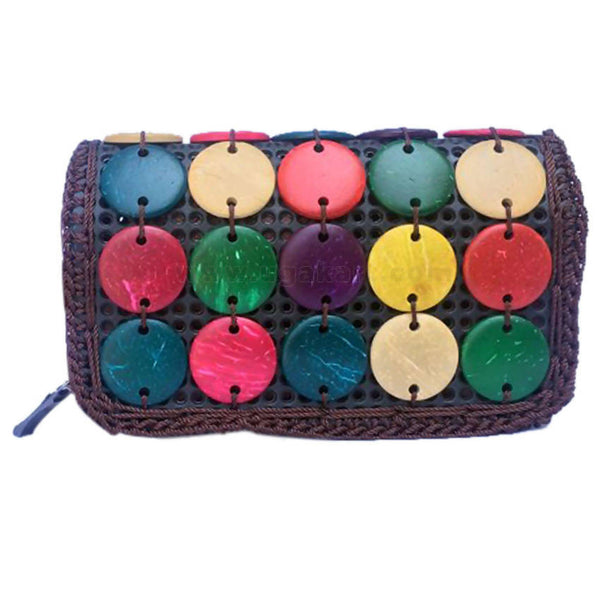 Beaded Coconut Wallet Multicoloured Purse