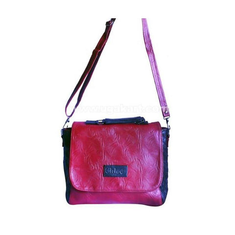 Chloe Women'S Shoulder Bag - Dark Pink, Black