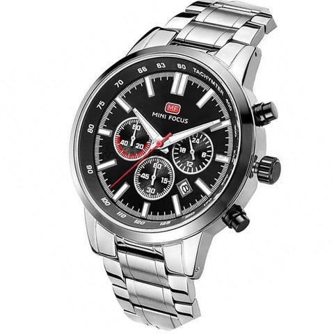 Mini Focus Steel Black Dial Analog Men's Watch