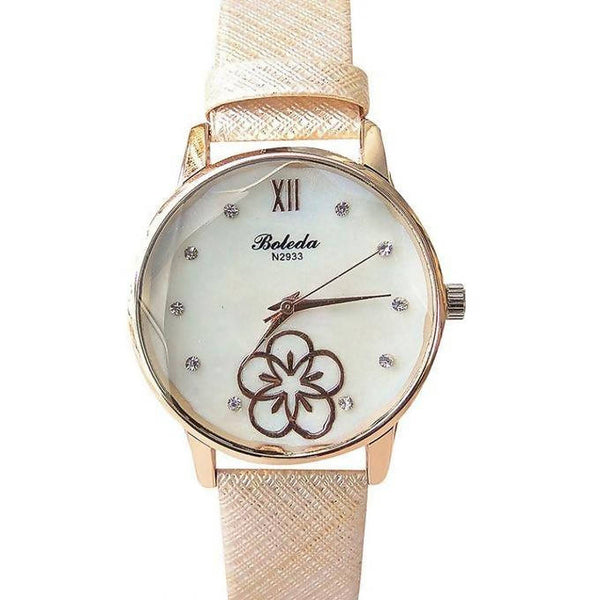 FLORAL BOLEDA GIRL'S WATCH - BROWN, GOLD