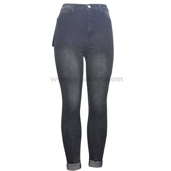 Long Waist Black and White Shade Jean For Women's