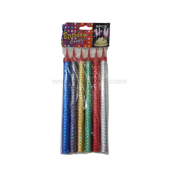 6 Pcs Birthday Sparkling Candle-20cm