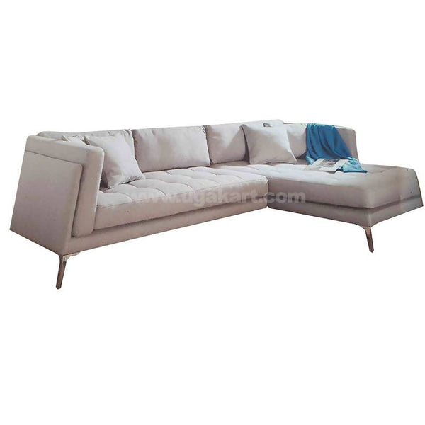 L Shaped 6 Seaters Large Sofa High Density With fibre Cushions