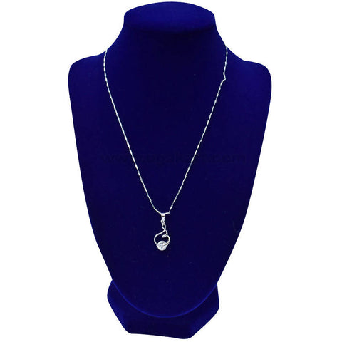 Silver Diamond Stone Necklaces
