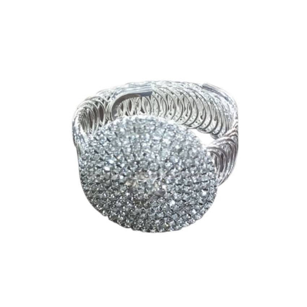 Ladies Stretch Bangle - Silver