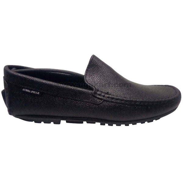 Aursa Pelle Men's Black Moccasins