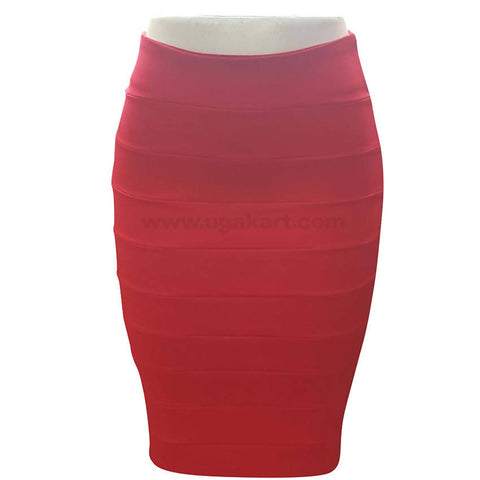 Red Fit Skirt For Women's