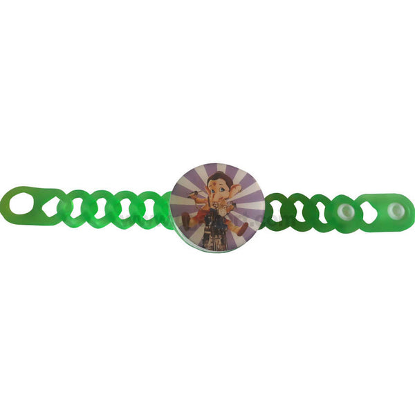 Plastic Green With Light Rakhi 1 Pc