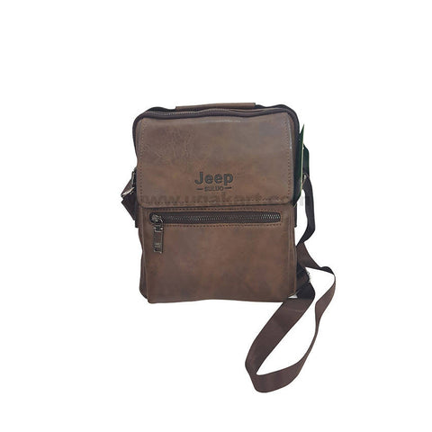 Jeep Buluo Dark Brown Unisex Cross Bag