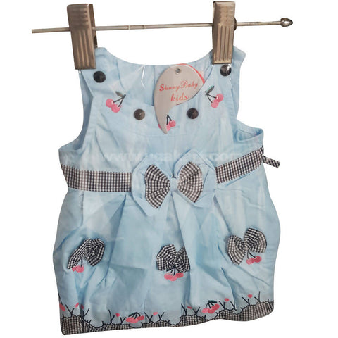 Sky Blue Baby Dress (0 to 6 month)