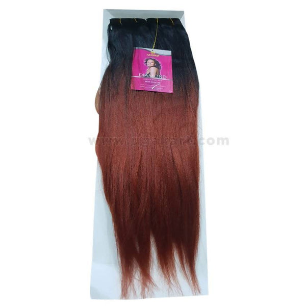 Diamond Yaki18 Human Hair_Black & Brown_18 Inch