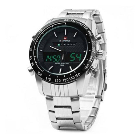 NaviForce Digital and Analog Watch With Date