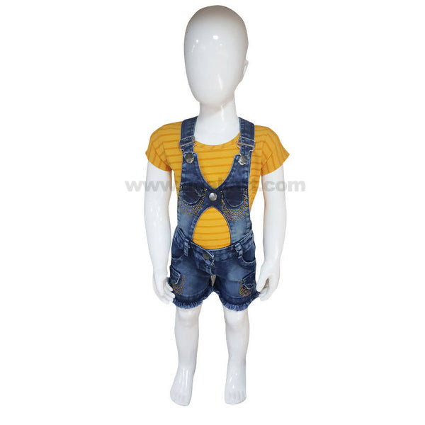Dungaree Jeans Dress For Girl_1 to 3Yrs