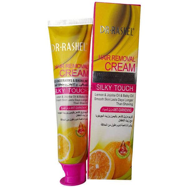 Dr. Rashel Hair Removal Lemon Cream for Legs, UnderArms