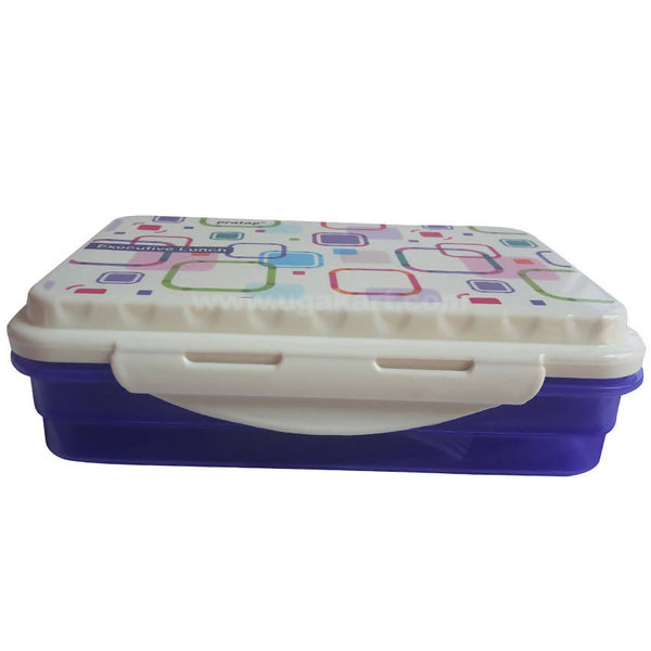 White Navy Blue Lunch Box