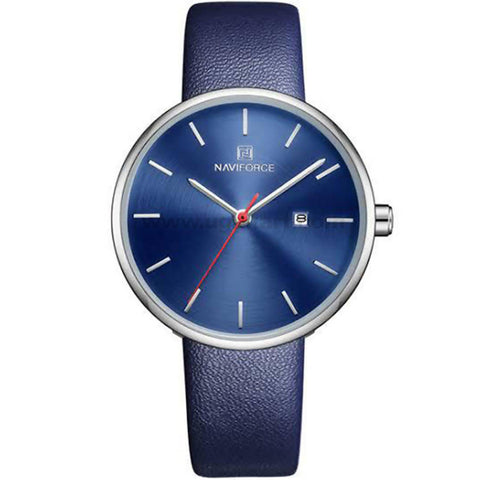 Naviforce Blue Leather Strap Men's Watch
