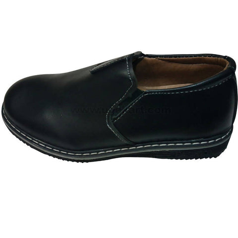 Fashion Casual Black Slip on Shoes For Kids
