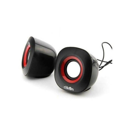 CK 2904 COMPUTER SPEAKER- OVAL SHAPE WITH RED & BL