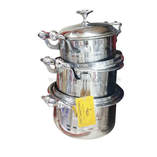 Stainless Steel Food Saucepan Set With Lids