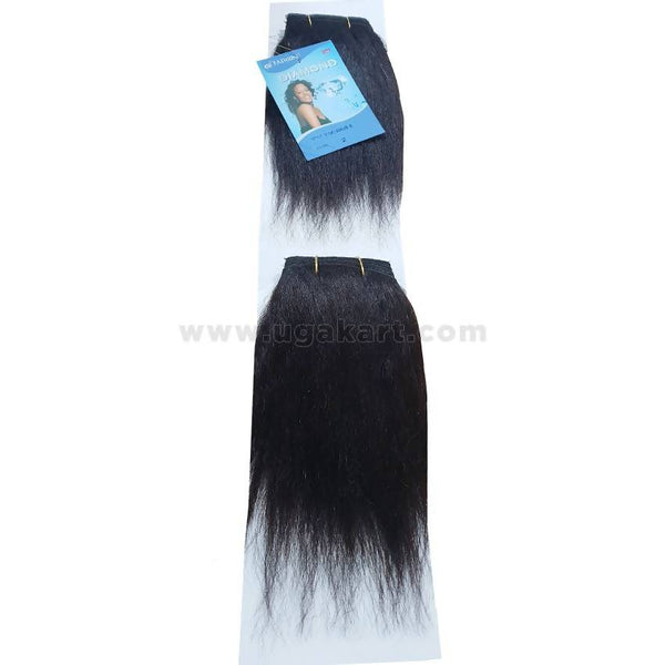 Human Hair Weave-Black -2 Pc With 8 Inch
