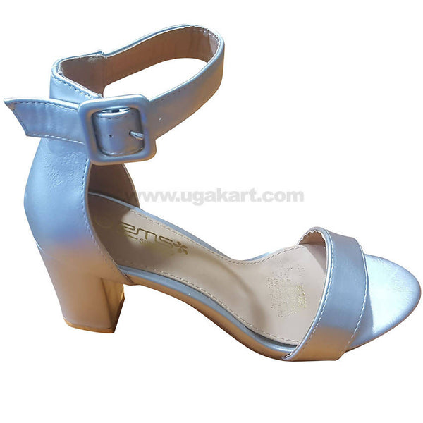 Women's Shinny Ankle Strap Heel Shoes