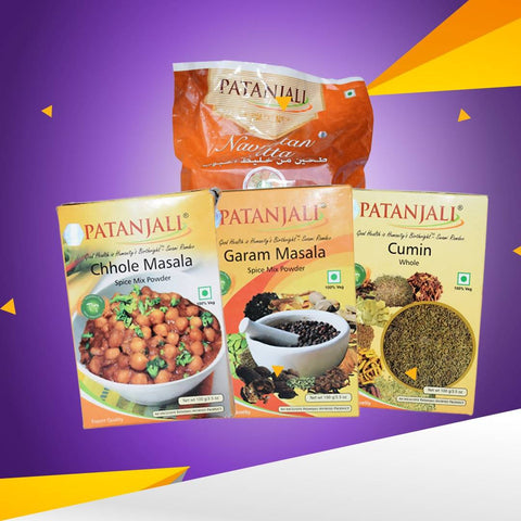 Patanjali Wheat Flour Navratan And Spices Value Pack