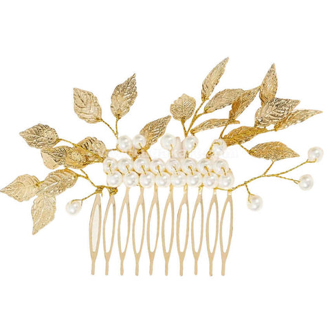 Bridal Decorative Leaf Comb Hair Clip