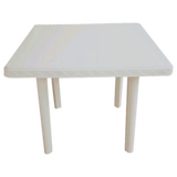 PLASTIC TABLE SET - SQUARE (STRT LEG)