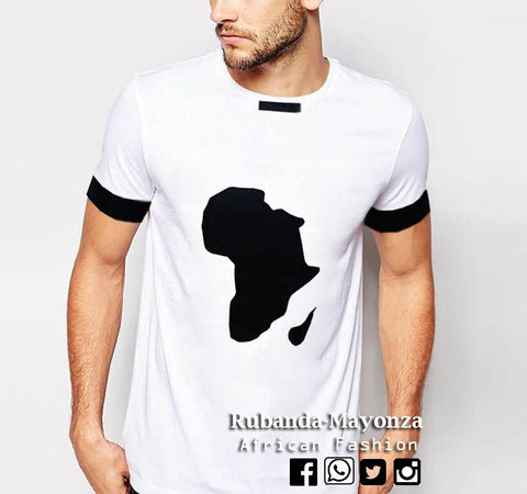 African T-Shirt , White