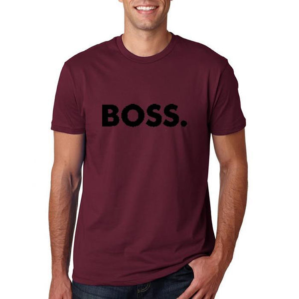 Boss Black print Men's T-Shirt-Auburn