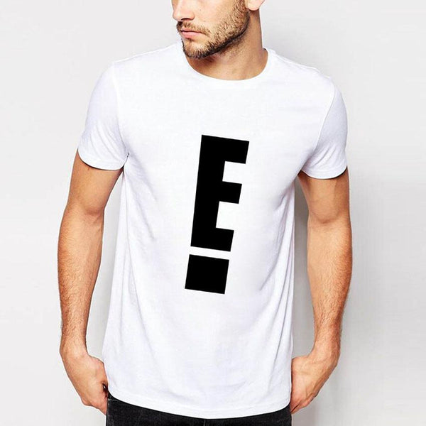 E Casual Men's T- shirt White