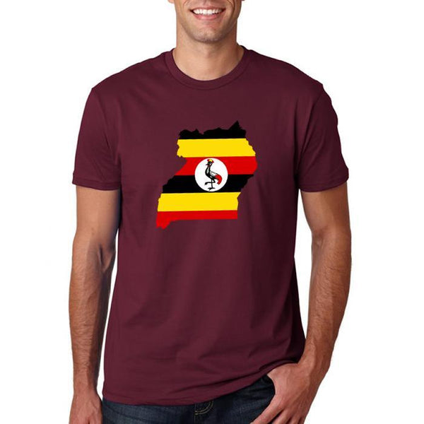 Birds With Flag Mens' t- Shirt Maroon