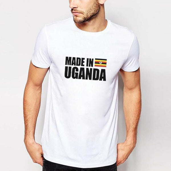 Made In Uganda Men's T- Shirt White