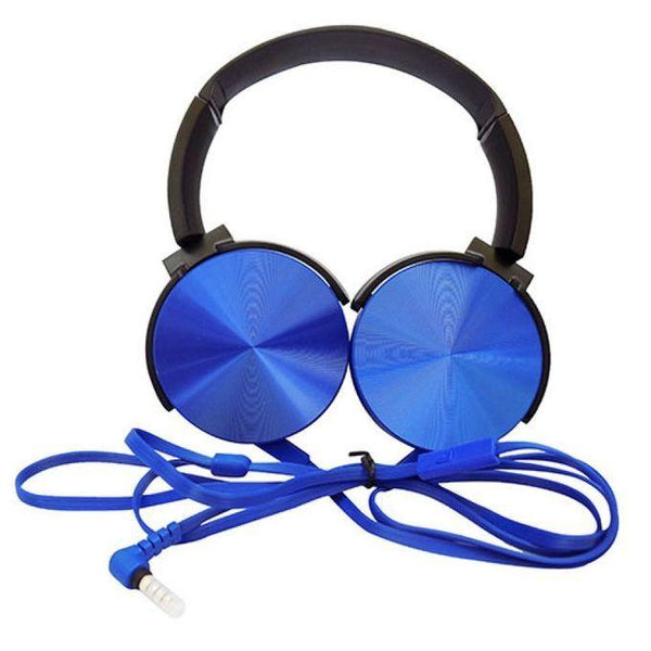 EXTRA BASE HEAD PHONES - BLUE, BLACK