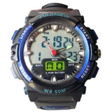 PASNEW WATER RESISTANT MEN'S WATCHES - BLACK, BLUE