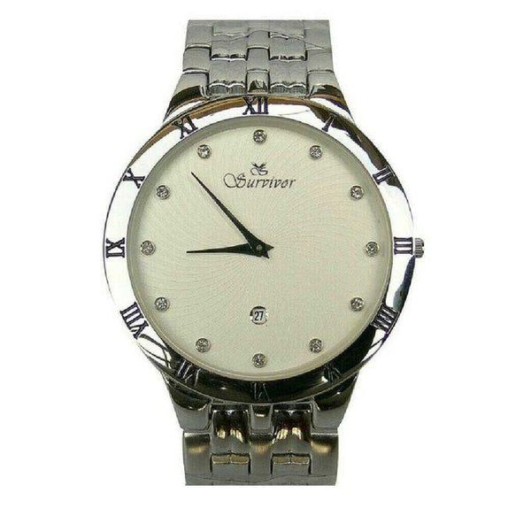 MEN'S DESIGNER SLIM WATCH - SILVER