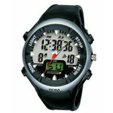 MEN'S WATER RESISTANT DUAL WATCH - BLACK, SILVER