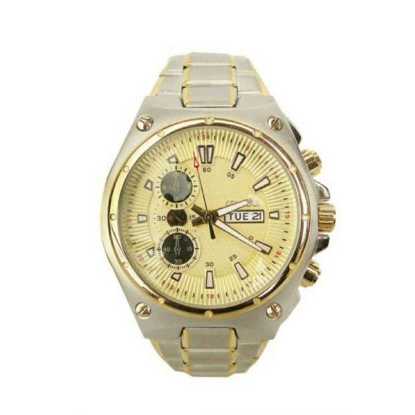 MEN'S DESIGNER WATCH SILVER - GOLD