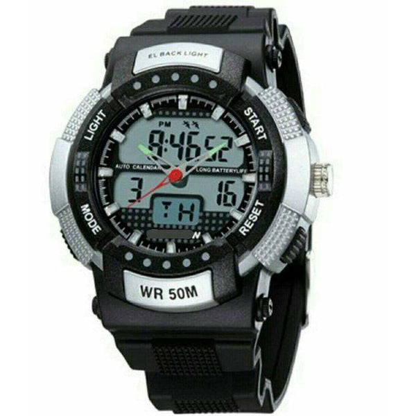WATER RESISTANT DUAL WATCH- BLACK, WHITE