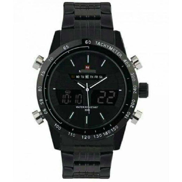 DIGITAL ANALOG MEN'S WATCH BLACK