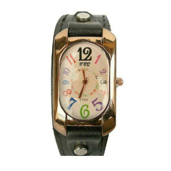 LADIES LEATHER STRAPPED DESIGNER WATCH