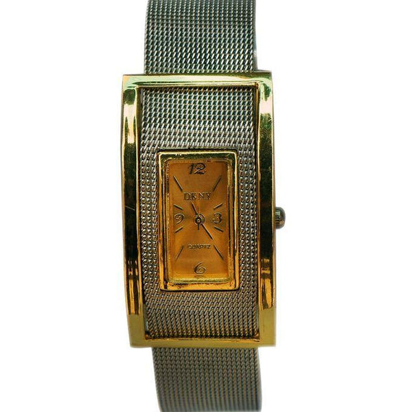 WOMEN'S SQUARE DESIGNED WATCH - SILVER, GOLD