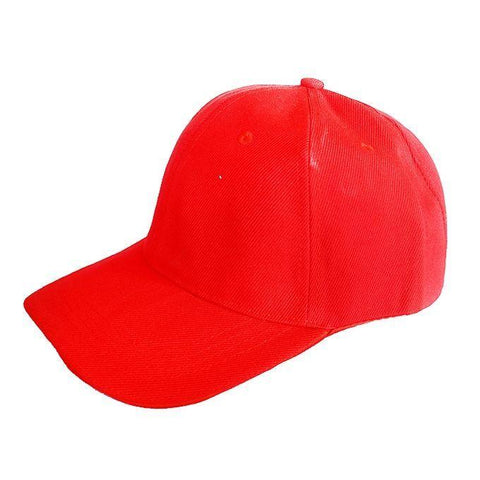 PLAIN BASE BALL MEN'S CAP - RED