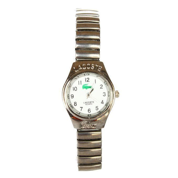 DESIGNER NUMBERED METAL STRAP WOMEN'S WATCH - SILVER