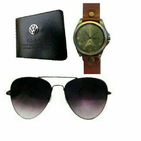Wallet, watch and black sunglasses1